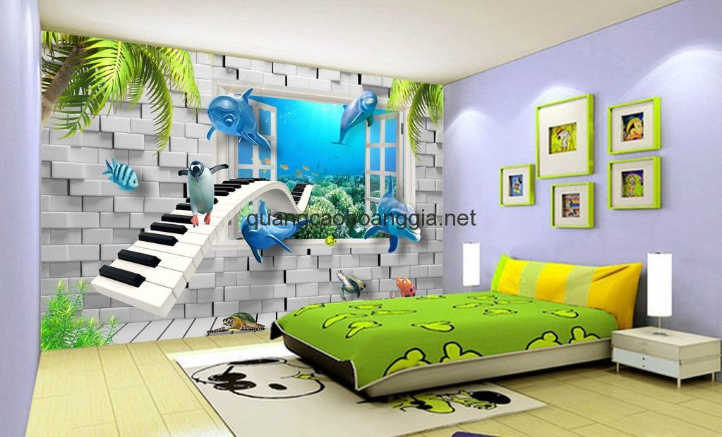 Thi công tranh dán tường đẹp, rẻ, nhanh chóng